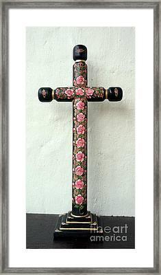 Rose Cross Framed Print