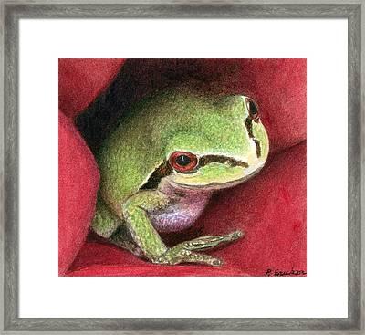 Rose Frog Framed Print