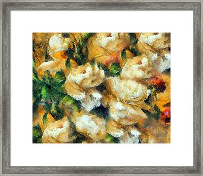 Rose Garden Abstract Expressionism Framed Print by Georgiana Romanovna