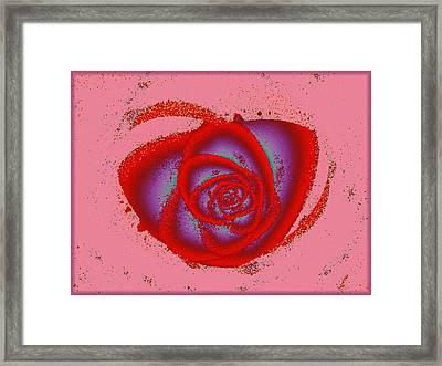 Rose Heart Framed Print by Anastasiya Malakhova