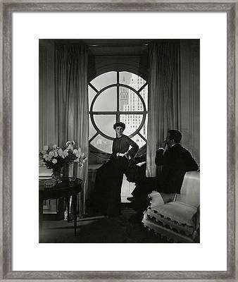 Rose Hobart Standing By A Window Framed Print