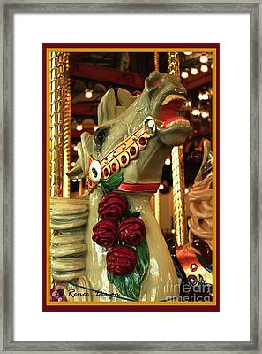 Rose Horse In Color Framed Print