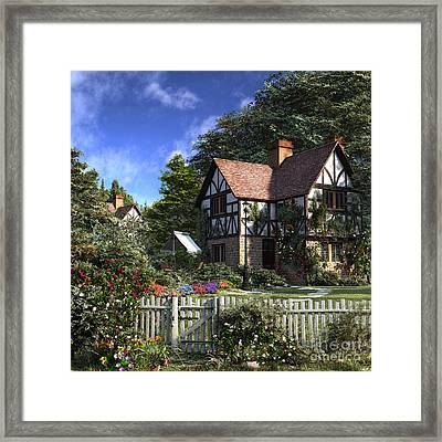 Rose House Framed Print