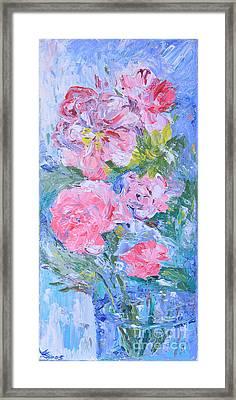 Rose Impression Framed Print by Marina Urchukina