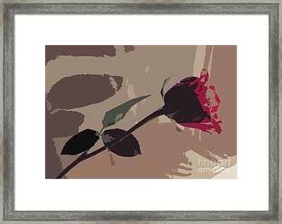 Rose In Abstract Digital Painting Framed Print by Minding My  Visions by Adri and Ray