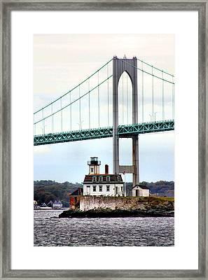 Rose Island Lighthouse Framed Print