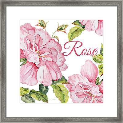 Rose-jp2590 Framed Print by Jean Plout