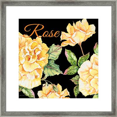 Rose-jp2598 Framed Print by Jean Plout
