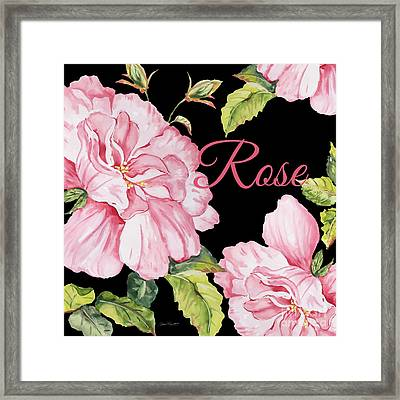 Rose-jp2599 Framed Print by Jean Plout