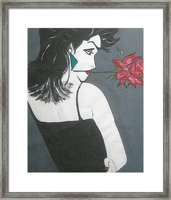 Framed Print featuring the painting Rose Lady by Nora Shepley