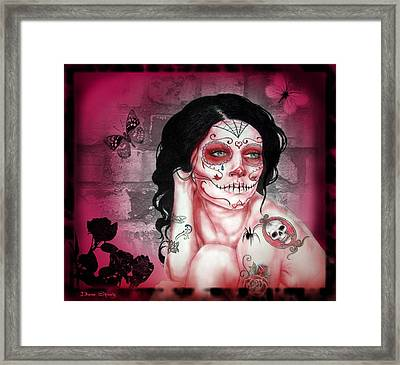 Rose Madder Framed Print by Diana Shively
