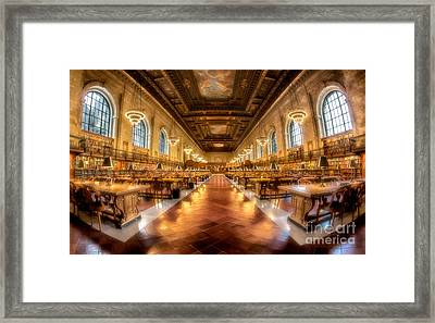 Rose Main Reading Room Framed Print by Jerry Fornarotto
