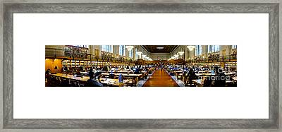 Rose Main Reading Room New York Public Library Framed Print by Amy Cicconi