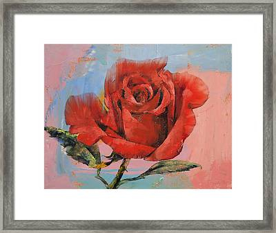 Rose Painting Framed Print by Michael Creese