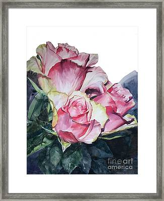 Pink Rose Michelangelo Framed Print