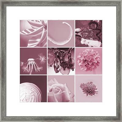 Rose Mosaic Framed Print