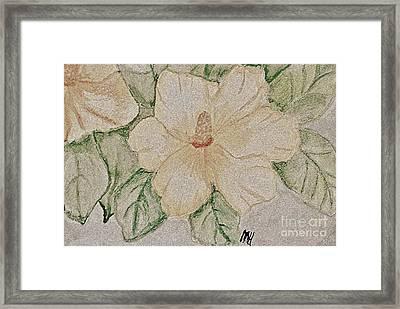 Rose Of Sharon Painting Framed Print