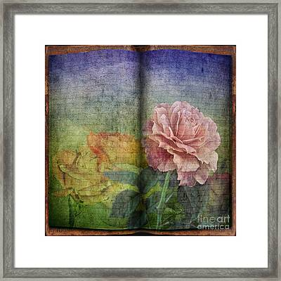 Framed Print featuring the digital art Rose Poem by Shirley Mangini