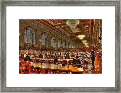 Rose Reading Room Framed Print by David Bearden