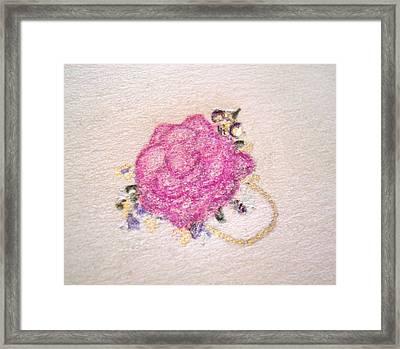 Rose Ring Framed Print by Christine Corretti