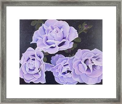 Rose Ripples Framed Print by Vicki Watson