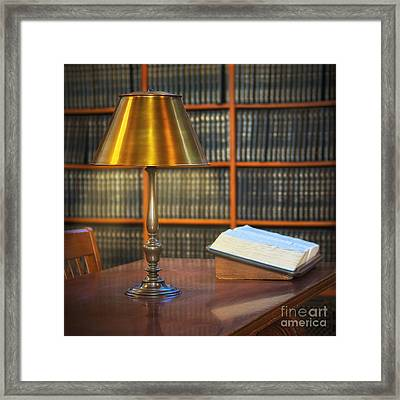 Rose Room Lamp Framed Print by Jerry Fornarotto