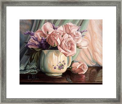 Rose Roses Framed Print by Lucie Bilodeau
