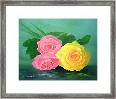 Rose Trio Framed Print by Francine Henderson
