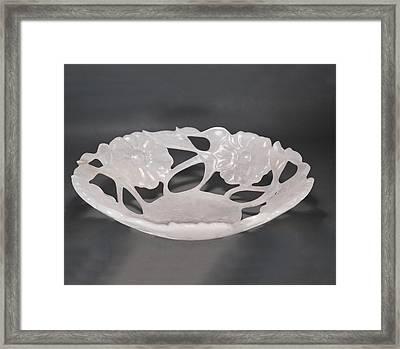 Rose Vase Framed Print by Leslie Dycke