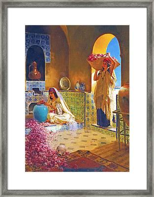Rose Water Framed Print by Munir Alawi