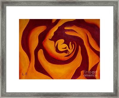 Rose Whirl 2 Framed Print