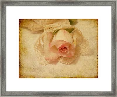 Framed Print featuring the photograph Rose With Vintage Feel by Sandra Foster