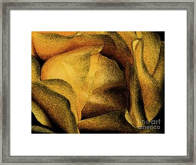 Framed Print featuring the photograph Rose Yellow Fresco by Jean OKeeffe Macro Abundance Art