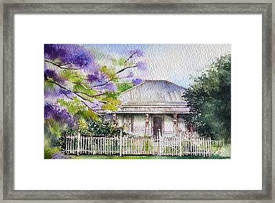 Roseabellas House Bellingen Framed Print