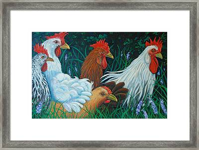 Rosebank Farm Chickens Framed Print