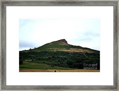 Roseberry Topping Hill Framed Print by Scott Lyons