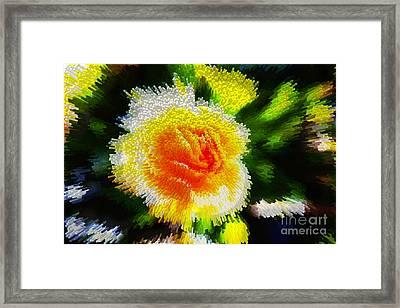 Rosecube Framed Print