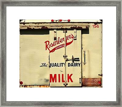 Rosenberger's - Dairy Milk  Framed Print