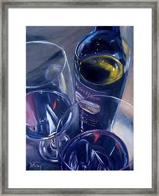 Rosenblum And Glasses Framed Print by Donna Tuten