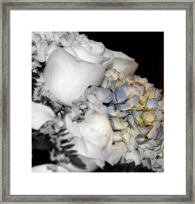 Roses And Hydrangeas Framed Print by Laurie Pike