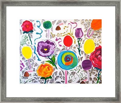 Roses And Lollipops For Mom Framed Print