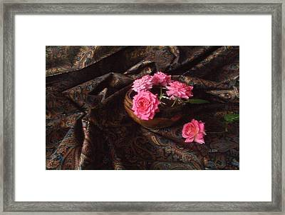 Roses And Paisley Framed Print by J R Baldini M Photog CR