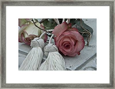 Framed Print featuring the photograph Roses And Tassels by Sandra Foster