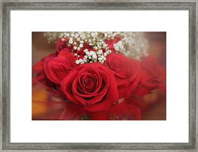 Framed Print featuring the photograph Roses Are Red by Elaine Malott