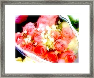 Framed Print featuring the photograph Roses Are Red. by Ira Shander