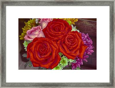 Roses Are Red Framed Print by Mario Legaspi