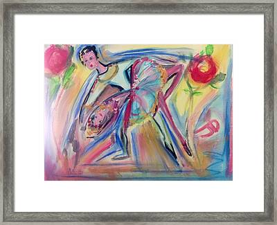 Roses Are Red My Love Framed Print by Judith Desrosiers