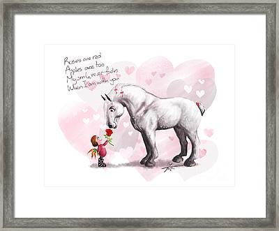 Roses Are Red Framed Print by Paulina Zaborska