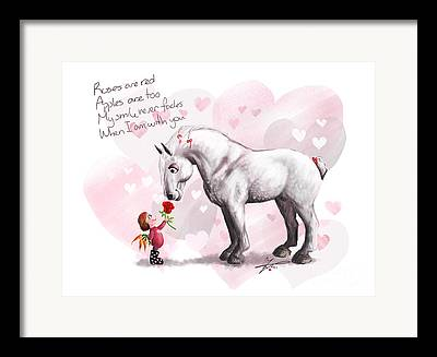 Companion Pony Drawings Framed Prints