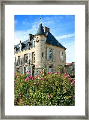 Roses At The Castle Framed Print by Olivier Le Queinec